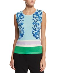 Escada Acanthus Place Print Tank Off White Multi Colors Off White Multi