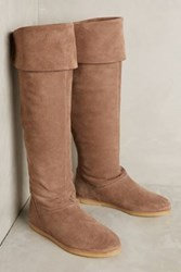 Anthropologie Kmb Robin Flat Boots Taupe