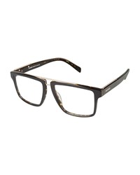 Balmain Tortoiseshell Plastic Optical Frames Black Pattern