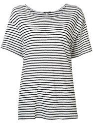 R 13 R13 Striped T Shirt White