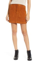 Bdg Urban Outfitters Corduroy Utility Skirt Brown