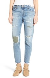 Joe's Jeans Women's Collector's Ex Lover Straight Leg Mended Boyfriend