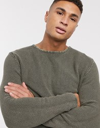 Only And Sons 100 Cotton Crew Neck Jumper Green