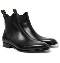 Dunhill Leather Chelsea Boots Black