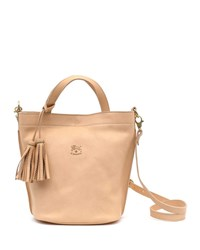 Il Bisonte Cowhide Leather Bucket Bag Beige