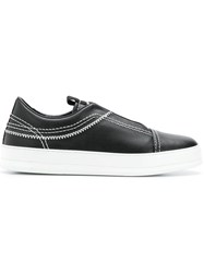 Z Zegna Embroidered Sneakers Black
