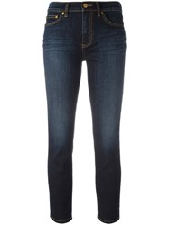 Tory Burch Stonewashed Cropped Jeans Blue