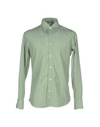 Finamore 1925 Shirts Light Green