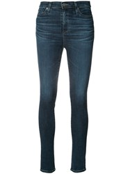 Ag Jeans Skinny Fit Women Cotton Polyurethane 27 Blue
