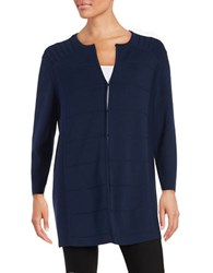 Anne Klein Paneled Open Front Cardigan