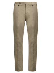 Lanvin Regular Fit Cotton Chino Trousers Grey