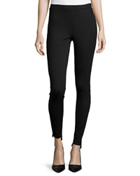 Neiman Marcus High Low Hem Leggings Black