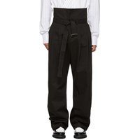 D By D Black Wide Trousers