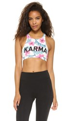 Spiritual Gangster Karma Bra Top Multi
