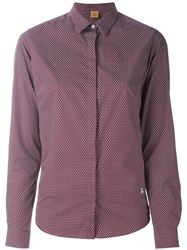 Fay Micro Floral Print Shirt Pink And Purple