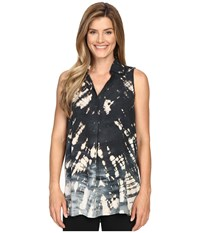 Hard Tail Sleeveless Shirt Tunic Skeleton Horizon 1 Women's Sleeveless Black