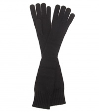 Dolce And Gabbana Long Cashmere Gloves Black