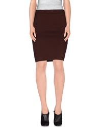 Selected Femme Knee Length Skirts Cocoa
