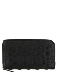 Jimmy Choo Star Studs Leather Zip Around Wallet