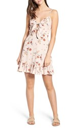 Lost Wander Rosa Floral Tie Front Minidress Pink Floral