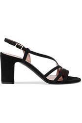 Tabitha Simmons Charlie Suede Sandals Black