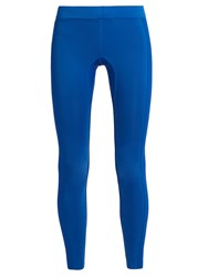 Aeance Compression Panel Performance Leggings Blue