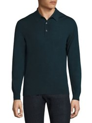 Luciano Barbera Long Sleeve Cashmere Sweater Green
