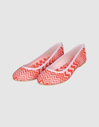 M Missoni For Orphanaid Ballet Flats Coral