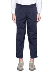 Kolor Ruched Outseam Cropped Pants Blue