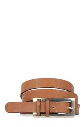 Warehouse Leather Jeans Belt Tan