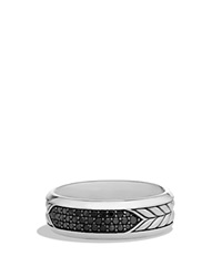 David Yurman Pave Band Ring With Black Diamonds Silver Black