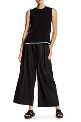 Opening Ceremony Arden Pleated Linen Pant Black