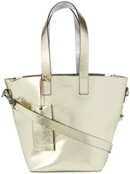 Marsell Cubetto Tote Leather Yellow Orange