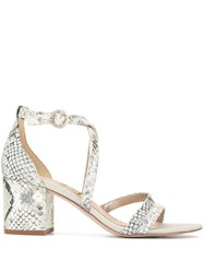 Sam Edelman Stacie Block Heel Sandals Silver