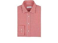 Etro Men's Gingham Cotton Shirt Red