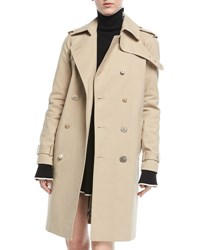 Adam By Adam Lippes Double Breasted Trenchcoat Khaki