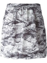 Moschino Cheap And Chic High Waist Printed Skirt Grey