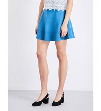 Sandro Flared Ribbed Skirt Blue