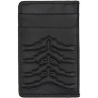 Alexander Mcqueen Black Rib Cage Card Holder