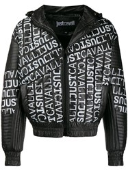 Just Cavalli Padded Hooded Jacket Black