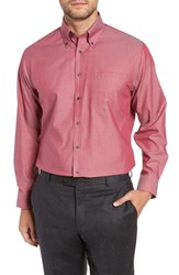 Nordstrom Big And Tall Shop Traditional Fit Non Iron Solid Dress Shirt Red Cordovan