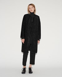 Sara Lanzi Lurex Coat Black