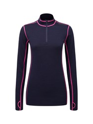 Tog 24 Creation Womens Tcz Merino Zip Neck Navy