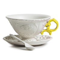 Seletti I Wares Porcelain Tea Set Yellow