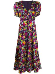 Saloni Lea Silk Maxi Dress Purple