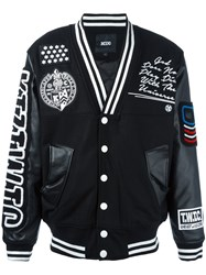 Ktz Patched Varsity Jacket Black