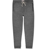 J.Crew Wallace And Barnes Melange Cotton Jersey Sweatpants Gray
