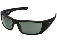 Spy Optic Dirk Soft Matte Black Happy Gray Green Sport Sunglasses