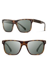 Shwood Monroe 55Mm Polarized Sunglasses Brindle Elm G15pol Brindle Elm G15pol