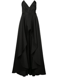 Jay Godfrey Pointed Bustier Gown Black
